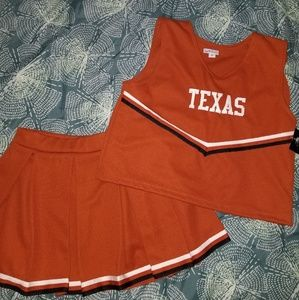 Other - Nwt Texas Longhorns Cheerleading Outfit size 12